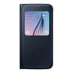 warm te koop originele flip pu lederen tas luxe venster voor Galaxy S7 edge / S7 / s6 edge plus / s6