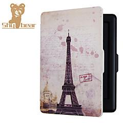 caja delgada cubierta magnética de reposo automático cáscara dura para el tacto de Kobo 2.0 6.0inch Eiffel torre