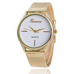 cinto de malha de ouro relógio de quartzo de Xu ™ mulheres