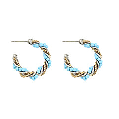 Earring Hoop Earrings Jewelry Women Wedding / Party / Daily / Casual / Sports Alloy / Acrylic / Copper 2pcs Light Blue