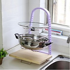 Adjustable Four Pot Rack Storage Rack