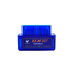 ELM327 Latest Version V2.1 Bluetooth Super Mini ELM327 OBD2 II Scan Tool Car Auto Diagnostic Tool for Windows Blue