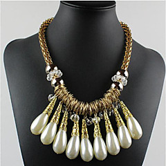 MPL Fashion small crystal pearl necklace mix water metal ring