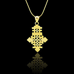 Ethiopian Cross Pendant 18k Gold Filled Plated Ethiopia Item Jewelry Africa Women Men