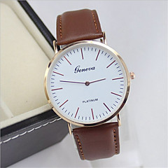Men's Fashion Leather Band Quartz Analog Wrist Watch(Assorted Colors)