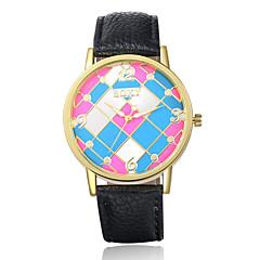Masculino Relógio de Pulso Quartz Couro Banda Preta / Branco / Azul / Marrom / Rosa marca