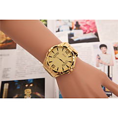 European and American men and women selling Swiss quartz watch 3-color alloy fake gold band calendar watch