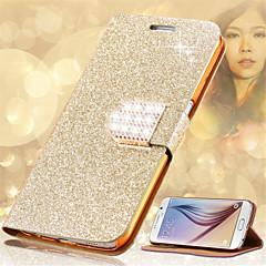 Mert Kártyatartó / Strassz / Állvánnyal / Flip Case Teljes védelem Case Csillámpor Kemény Műbőr Samsung Note 5 / Note 4 / Note 3