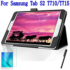 Fashion Top Quality Smart PU Leather Cover For Samsung Galaxy Tab S2 8.0 T715 Tablet Case+Free Screen Protector+ Pen