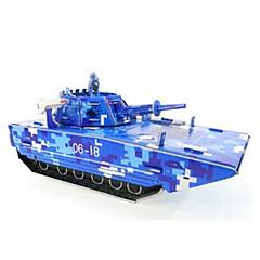 puslespil 3D-puslespil Byggesten DIY legetøj Tank Papir Brun Model- og byggelegetøj