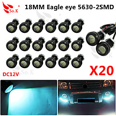 20 X ICE 9W LED Eagle Eye Light Car Fog DRL Daytime Reverse Backup Parking Signal 12V