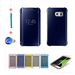 Clear View Window Smart Cover Fundas for Galaxy S7 Edge Plus/S7 Edge/S7/S6 Edge Plus/S6 Edge/S6/S5+Stylus Anti-dust Plug