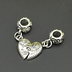 bricolaje puros moldeados hechos a mano adornos de plata y accesorios de madre e hija estilo de joyería