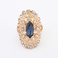 Women's European style Fashion Shiny Rhinestone Peacock Ring