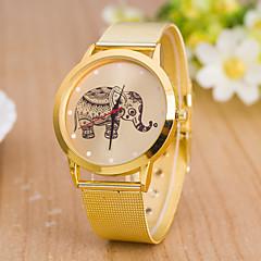 estilo europeo de elefante de oro reloj de pulsera de moda correa de malla de las mujeres
