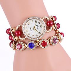YILISHA ® Women Fashion Charming Colorful Rhinestone Display & Bead Strap Round Dial Quartz Bracelet Watches Jewelry