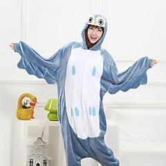 Smart Owl Blue Flannel Fleece Kigurumi Pajamas Cartoon Sleepwear Animal Halloween Costume
