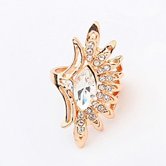 Women's New European Exaggerated Fashion Rhinestone Flower Ring