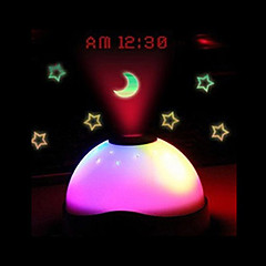 LS4G Hot sales Starry Digital Magic LED Projection Alarm Clock Night Light Color Changing horloge reloj despertador