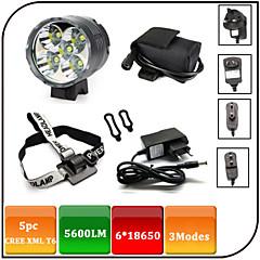 Svjetla za bicikle,Prednja svjetla-3 Način 5600 Lumena Vodootpornost / Može se puniti / Otporan na udarce / protiv klizanja 18650x8.4V