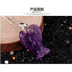 Purple jade pendant bird dove pendant necklace