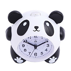 Cute Cartoon Panda Alarm Clock Night Light Silent for Kids Students Children Gift