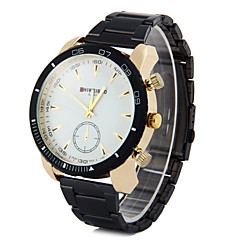 Men's Business Fashion Stainless Steel Band Quartz Watch Wrist Watch Cool Watch Unique Watch