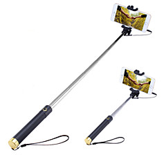 Selfie Stick with A Built-in Remote Shutter Mini3 Extendable Handled Stick Designed for Apple, Android Smartphones