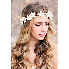 Bridal flower wreath woodland halo wedding flower crown bridal head piece rustic hair band flower headband