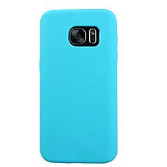 For Samsung Galaxy S7 Edge Stødsikker Etui Bagcover Etui Helfarve Silikone for Samsung S7 S6