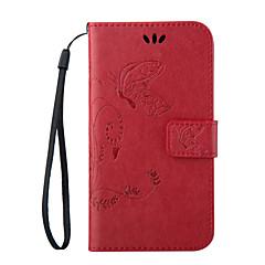 Mert Samsung Galaxy S7 Edge Pénztárca / Kártyatartó / Állvánnyal / Flip / Dombornyomott Case Teljes védelem Case Pillangó Műbőr SamsungS7