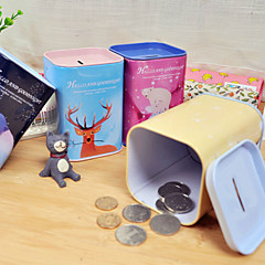 1PC Hello Good Night Piggy Bank Cute Cartoon Receive Tank Sundry Store Content Box(Style random)