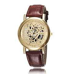 Men's Fashion Watch Non-Sided Hollow Mechanical Luminous Watch Really Belt Quartz Watch (Assorted Colors)