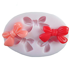 Three Holes Bowknot Oval Silicone Mold Fondant Molds Sugar Craft Tools Resin flowers Mould Molds For Cakes