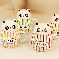 2pcs 400ml όμορφη ουρική αρθρίτιδα κοιλαράς κύπελλο panda κεραμικό λούστρο χρώμα μπαρ κύπελλα κούπα νερό (τυχαία χρώμα)