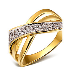 Statement Rings Cubic Zirconia Copper Platinum Plated Gold Plated 18K gold White Gold/White Jewelry For Wedding Party Daily Casual 1pc