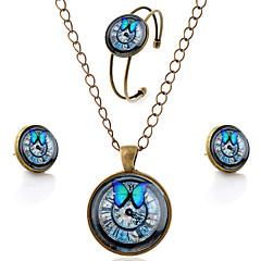 Smyckeset Ädelsten Glas Legering Minimalistisk Stil Brun Party Dagligen Casual 1set Dekorativa Halsband Örhängen Armband Bröllopsgåvor