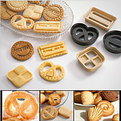 Classical Denmark Cookies Plastic DIY Tools Fondant Cake Mold Biscuit Cutter Baking Tools,Set of 4