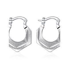 Oorknopjes Clip oorbellen Europees Sterling zilver Koper Verzilverd Geometrische vorm Zilver Sieraden VoorBruiloft Feest Dagelijks