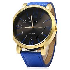 Masculino Relógio de Pulso Quartz PU Banda Preta / Azul / Vermelho / Laranja marca-