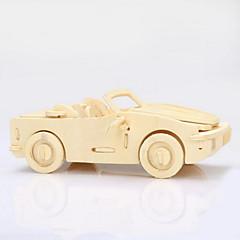 3d puslespil massivt træ puslespil børns uddannelsesmæssige legetøj træ vogn puslespil model lille skattekiste