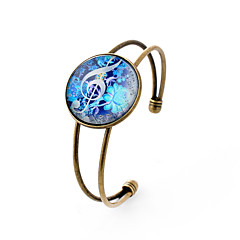 Lureme® Simple Jewelry Time Gem Series Fluorescent Color Flowers with Musical Note Bangle for Women and Girl
