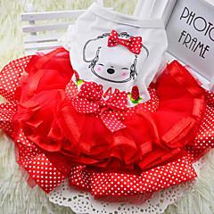 Perros Vestidos Rojo / Verde / Amarillo Verano / Primavera/Otoño Clásico / Lunares / Lazo Boda / Cumpleaños / Navidad / Año Nuevo / Moda-