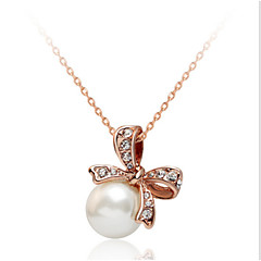 White Butterfly Pearl Pendant Necklace Jewelry for Women Party Gift