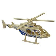 3d puslespil massivt træ puslespil model trælegetøj helikopter