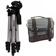 모든 DSLR 카메라와 미니 DSLR 카메라의 DV 니콘 캐논 소니 올림푸스에 대한 ismartdigi I101 화이트 카메라 가방 + ir120 3 섹션 삼각대