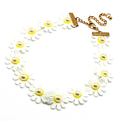 Necklace Choker Necklaces / Collar Necklaces Jewelry Party / Daily Fabric White 1pc Gift