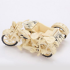 Fancy A Three-Wheeled Motorcycle Wood 3D Puzzles Diy Toys