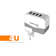 CONFULON@ C21 EU/US Plug 4Port USB Charger Socket AC100~240V 5V 4.2A Power Adapter For iPhone/iPad/SAM Tab/Android