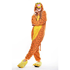 Kigurumi Pajamas New Cosplay® / Tiger Leotard/Onesie Halloween Animal Sleepwear Yellow Patchwork Polar Fleece Kigurumi UnisexHalloween /